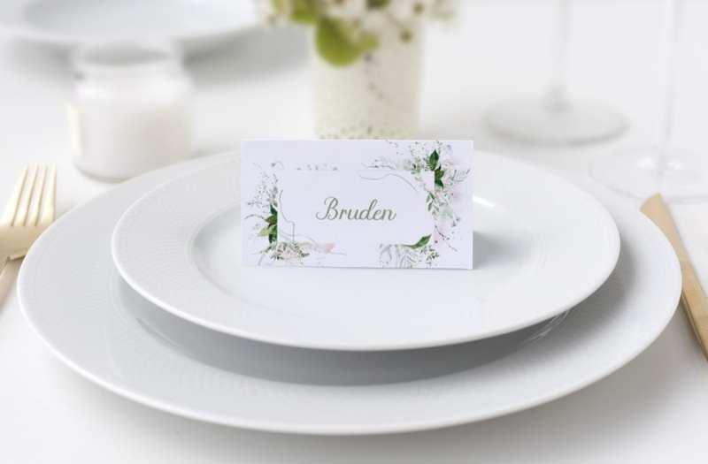 bordkort natur grøn bryllup