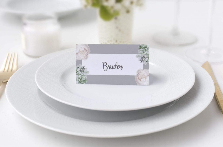 smukt bordkort
