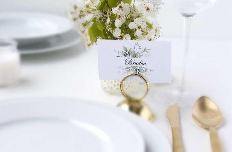 bryllups borddækning