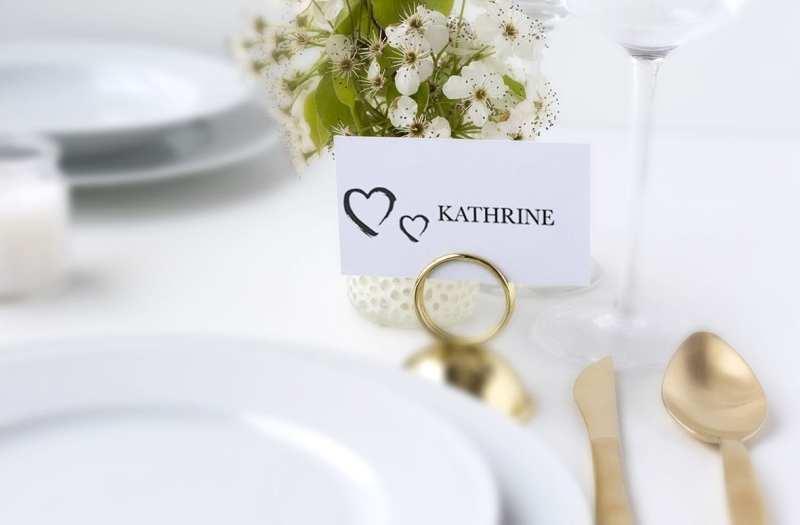 bordkort med hjerter