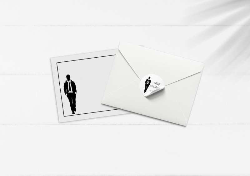 Silhuette Suit kuvert og sticker