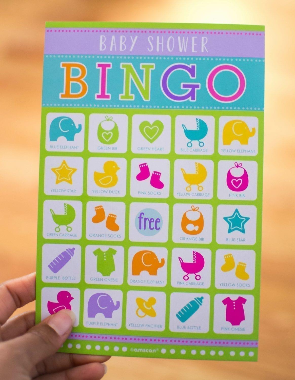 Babyshower Game. Baby Bingo. Leg