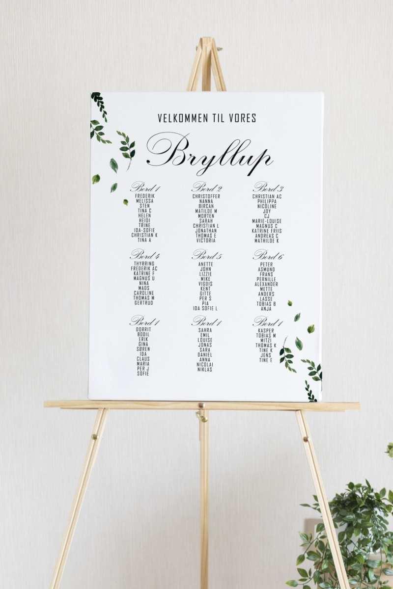 Fallen Grace, bordplan, bryllup