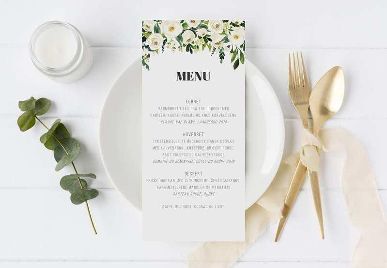 menukort blomster Go Traditional