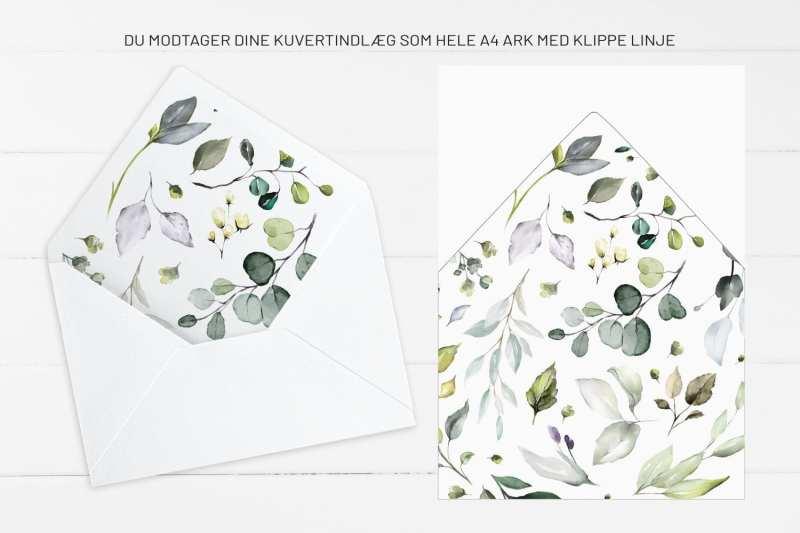 Greenery Fame, kuvertindlæg, bryllup