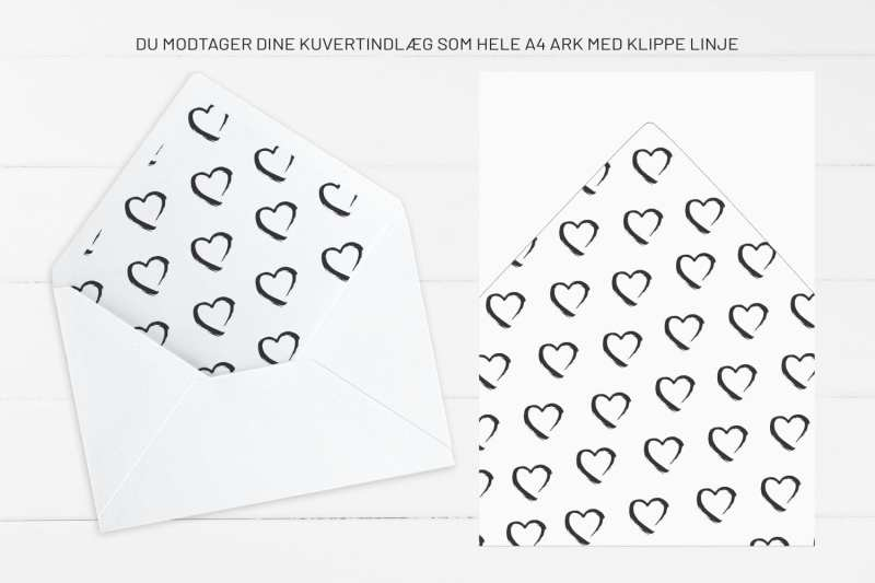 Grunge Heart, kuvertindlæg, bryllup