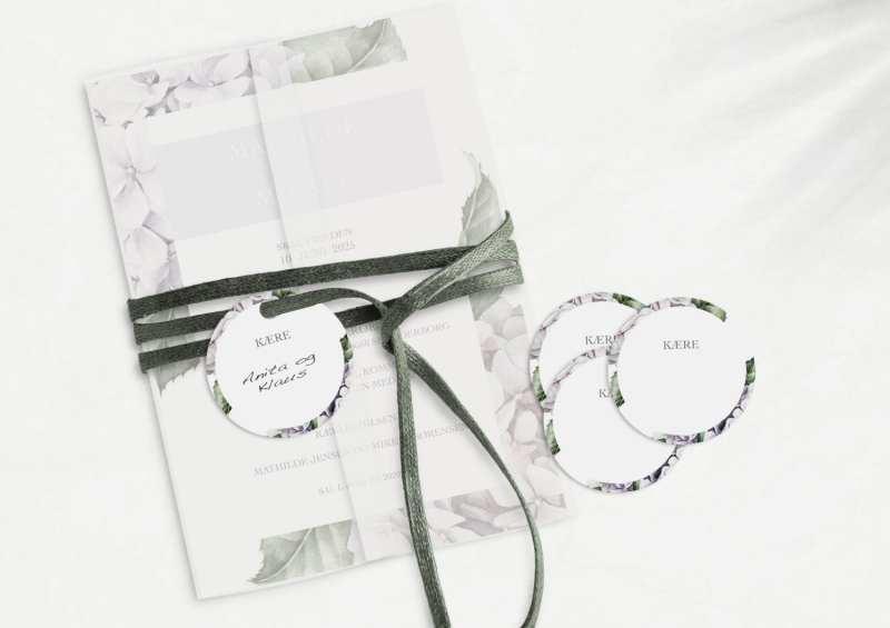 Lavender Hydrangea, manillamærke, bryllup