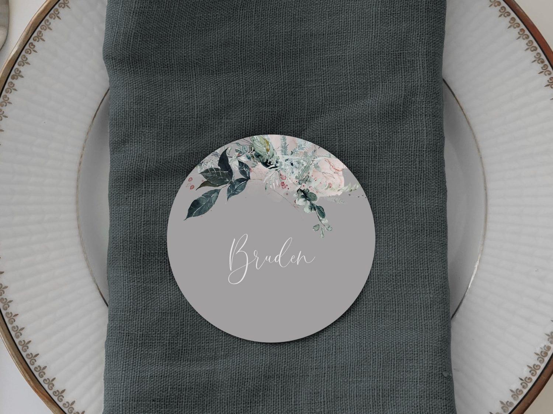Magical Greys, runde bordkort, bryllup