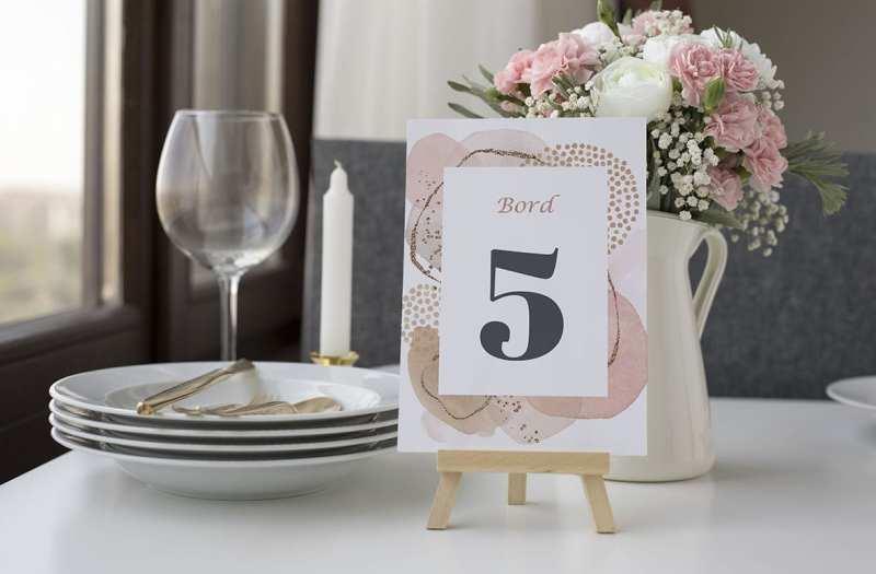 bordnummer, modern graphics, fest, pynt opdækning, bordopdækning