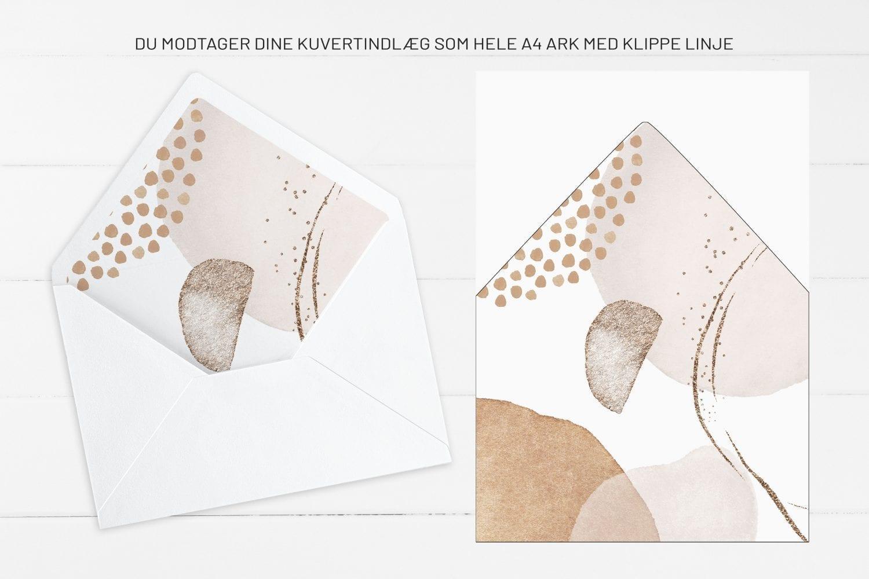 Modern Graphics, kuvertindlæg, bryllup