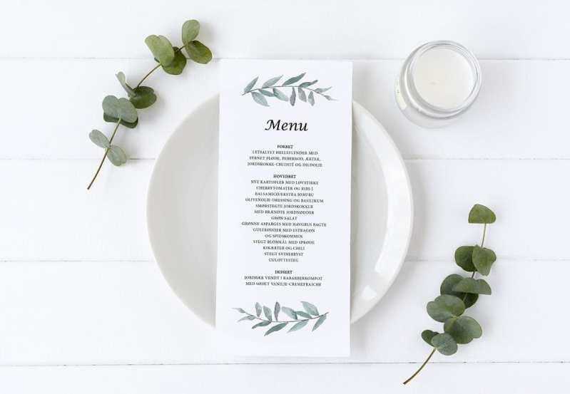 menukort simpel Simple Branch