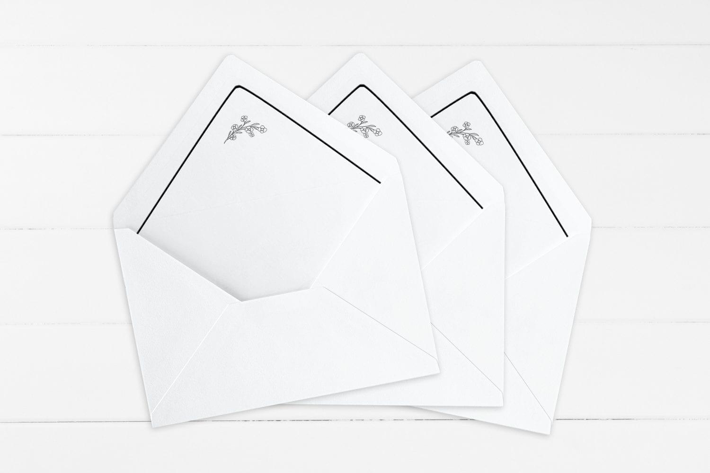 Simple Kali, kuvertindlæg, bryllup