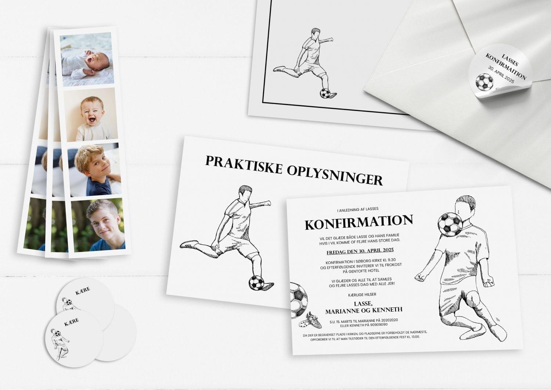 Soccer Dreams, konfirmation, invitation