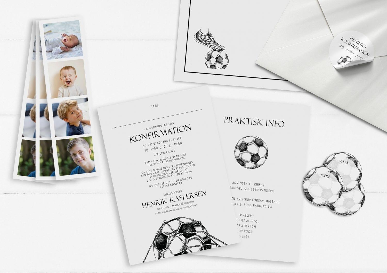 Soccer Goal, konfirmation, invitation