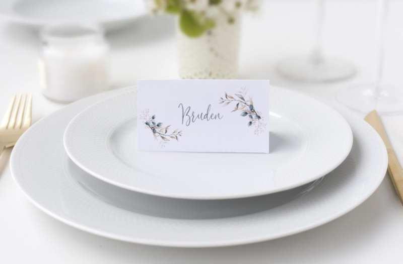 Soft Sage, bordkort, bryllup