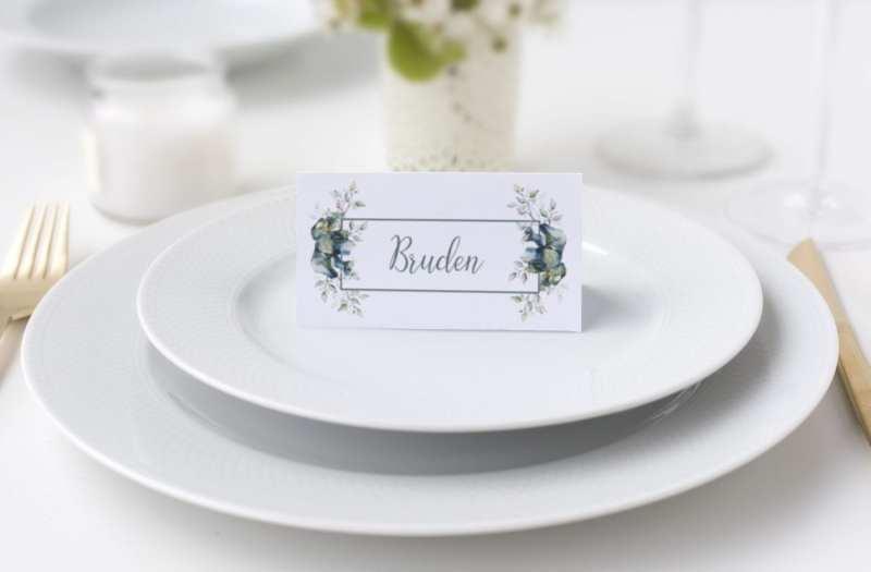 Teal Vibrant, bordkort, bryllup