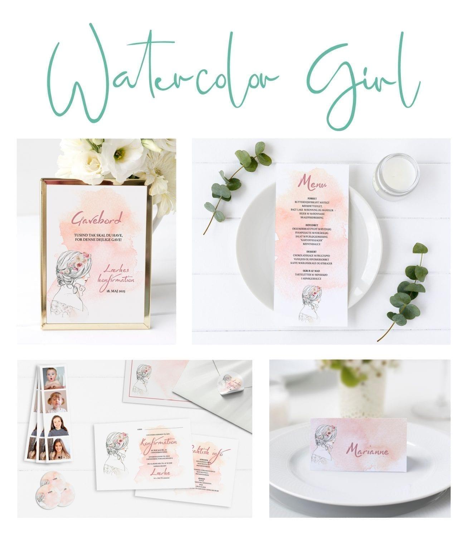 watercolor girl serie - Se hele udvalget