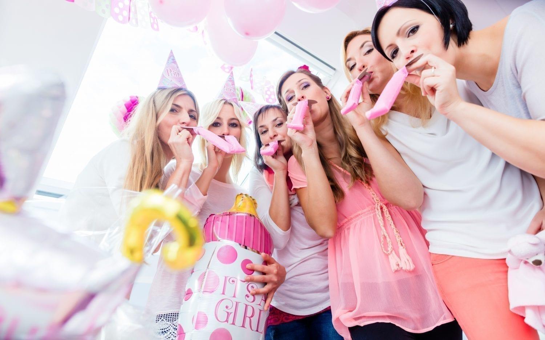 babyshower. lyserød. pink. fest.