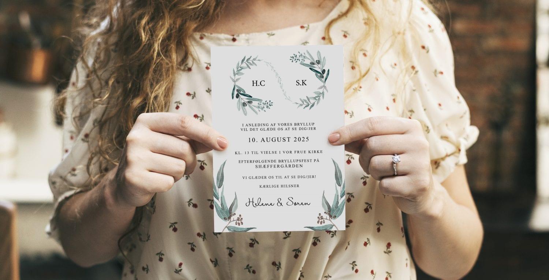 Eucalyptus delight A5 invitation
