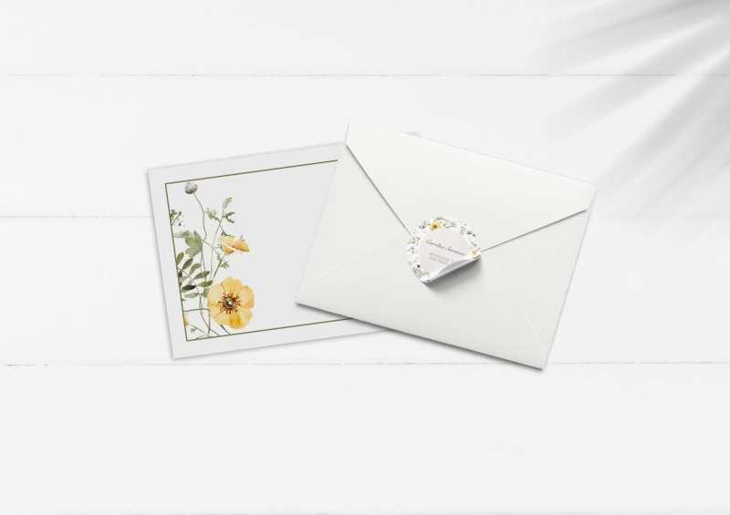 kuvert og stickers til konfirmation