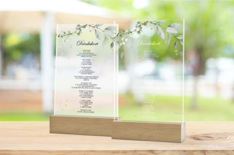 Skilt, drinkskort, photobooth, menu - Gold Leaf