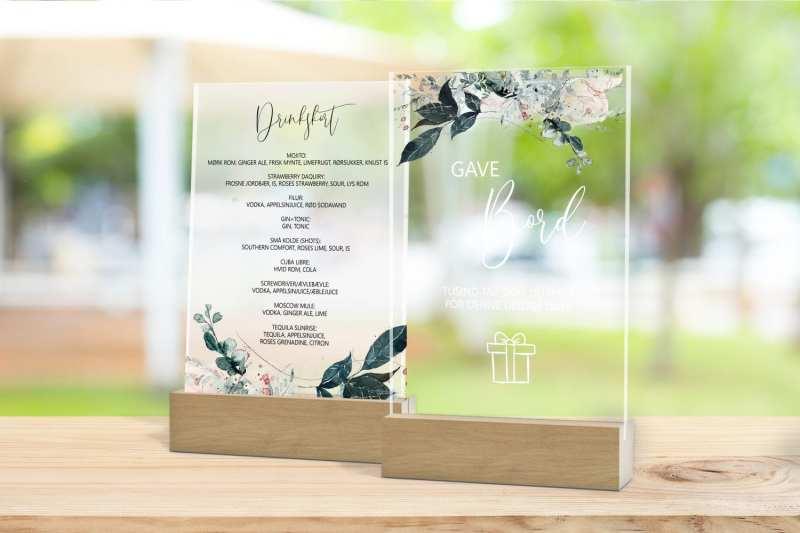 Skilt, drinkskort, photobooth, menu - Magical Greys