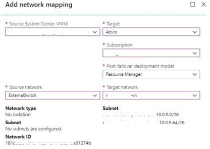Figura 10 - Associazione Logical Network con Azure vNet