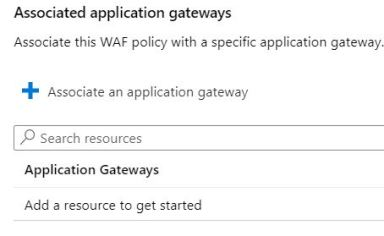 Figura 2 - Associazione Application Gateway