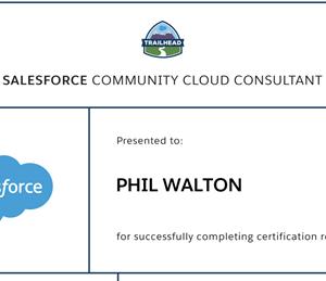 Certified Salesforce Community Cloud Consultant Phil Walton