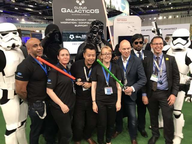 Team Galacticos at the Salesforce London World Tour