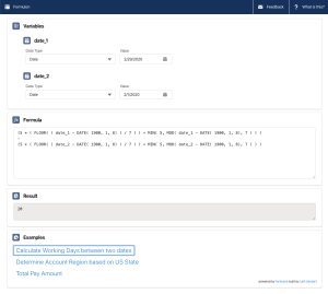 User interface for Formulon.io Salesforce formulas helper