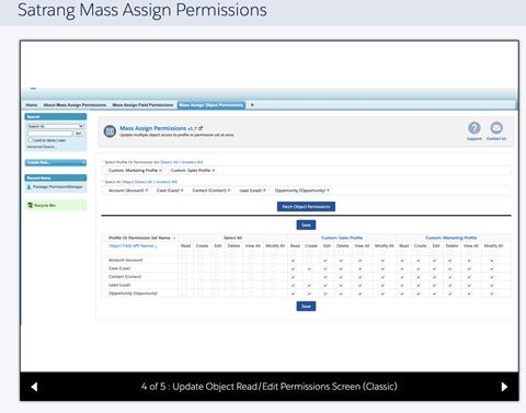 Mass Assign Permissions App