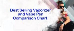 Best Vaporizer and Vape Pen Comparison Chart