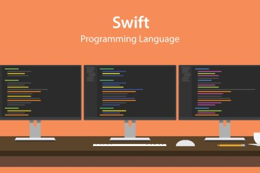Apple swift programming language logo