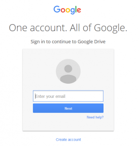Create a Google Account to Backup Your Data