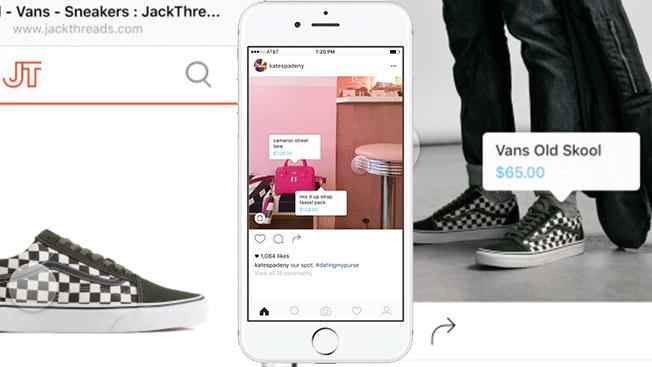 Tagging dei prodotti nell'e-commerce di Instagram