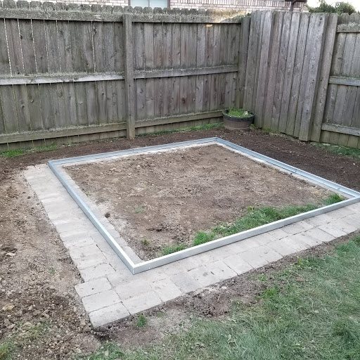 metal frame plywood vs patio stones for