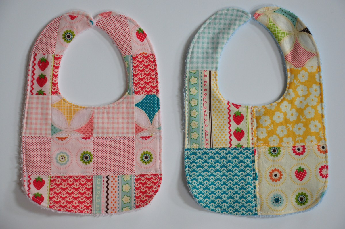 Patchwork Bibs And Burp Cloths With Terry Cuddle Clover