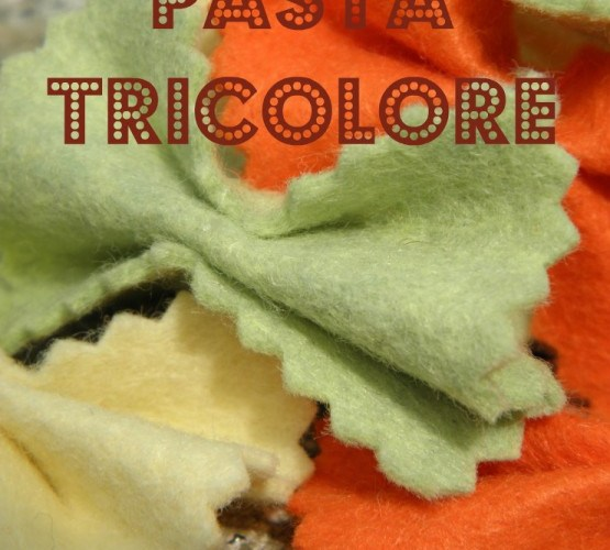 Sewing with Children :: Pasta Tricolore