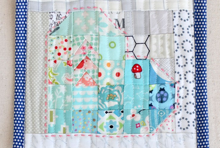Straight to the Heart Quilt Block {mini tutorial}