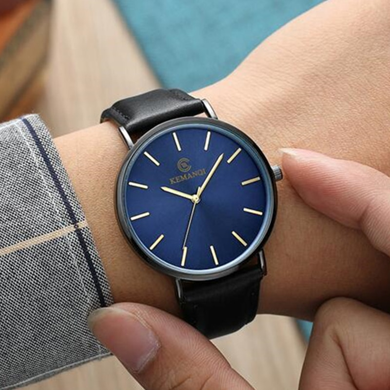 Minimalist Men's Watch Ultra Thin Men's Watches For Men Fashion Simple Business Watch Leather Clock Reloj Hombre Relogio CLOVER JEWELLERY