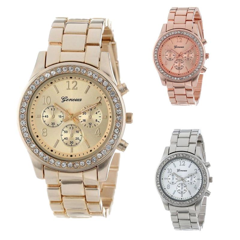 Geneva Classic Luxury Rhinestone Watch Women Watches Fashion Ladies Watch Women's Watches Clock CLOVER JEWELLERY