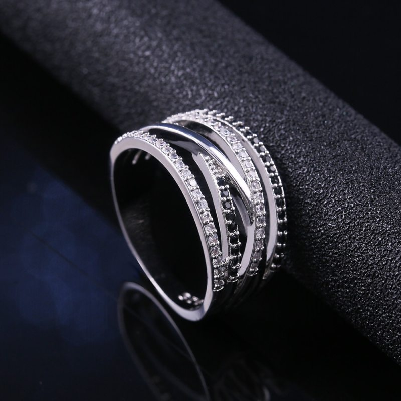 New Twist Ethnic Style Women Finger Rings With Black&White Stone Micro Paved Surprise Gift For Women Trendy Jewelry Rings CLOVER JEWELLERY