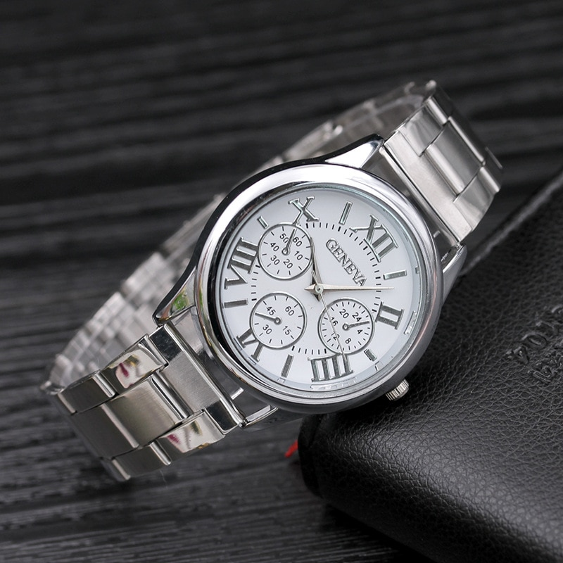 Women Fashion Gold Watch Stainless Steel Band Wrist Watches Luxury Bracelet Ladies Watch Women Watches CLOVER JEWELLERY