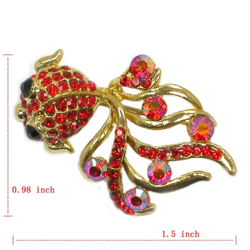 12pcs Wholesale Fashion Brooch Rhinestone Fish Pin brooches Jewelry Gift brooches CLOVER JEWELLERY