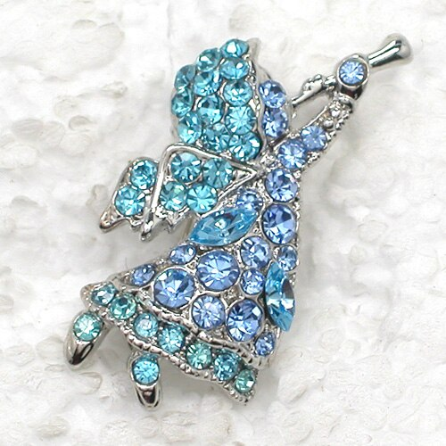12pcs/lot Wholesale Fashion Brooch Rhinestone Small Angel Pin brooches Costume Accessories jewelry gift CLOVER JEWELLERY