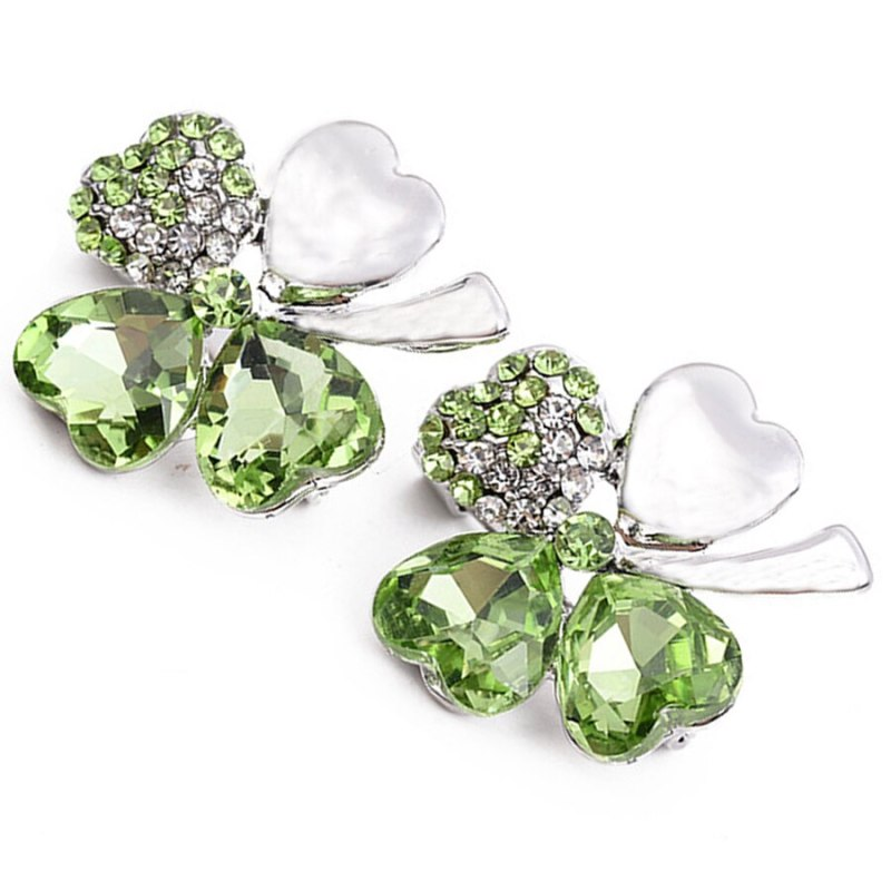 Charms Rhinestone Clover Brooches Pins For Women Dance Party Accessories CLOVER JEWELLERY