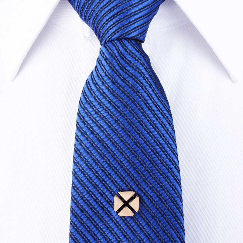 Four-Leaf Clover Tie Tacks Tie Pin with Chain Best Choice for Wedding Gift for Men CLOVER JEWELLERY