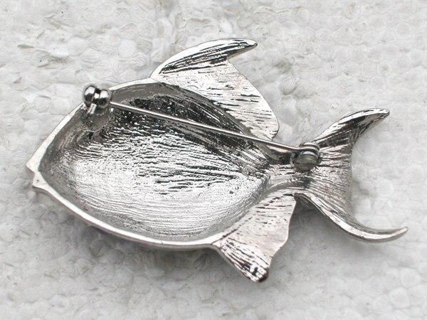 Purple Rhinestone Enamel Brooch pins Fish Pin brooches CLOVER JEWELLERY