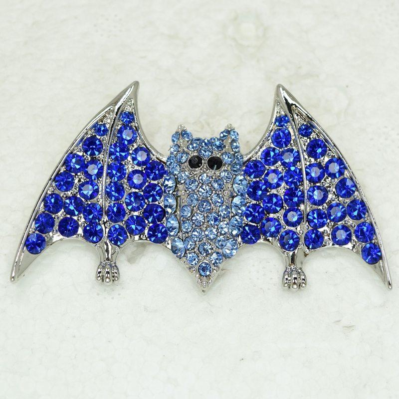 12pcs/lot Wholesale Bat Rhinestone Pin brooches CLOVER JEWELLERY